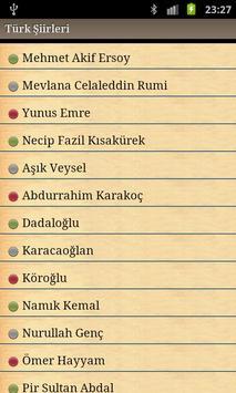 Turk siirleri poster