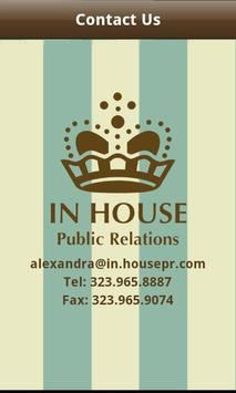 In House Public Relations poster