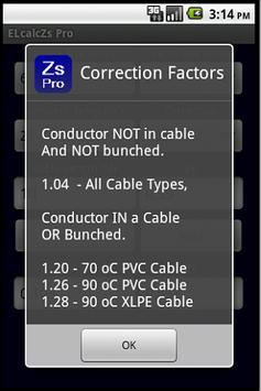 Cable Impedance Calculator Zs apk screenshot