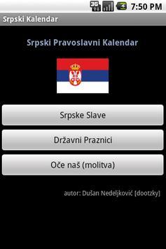 Srpski Kalendar (Serbian Cal) poster