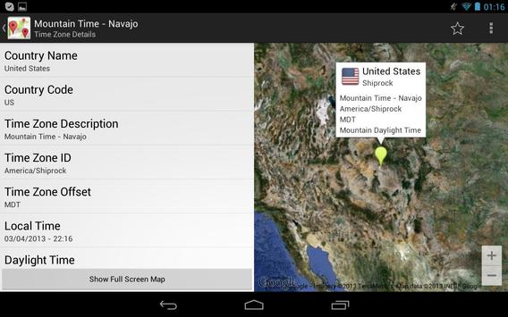 Time Zone Explorer apk screenshot