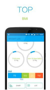 WEIGHT LOG apk screenshot