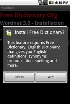 Wordnet - Free Dictionary Org apk screenshot