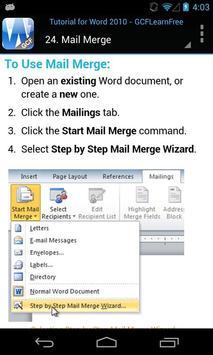 GCF Word 2010 Tutorial apk screenshot