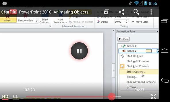 GCF PowerPoint 2010 Tutorial apk screenshot