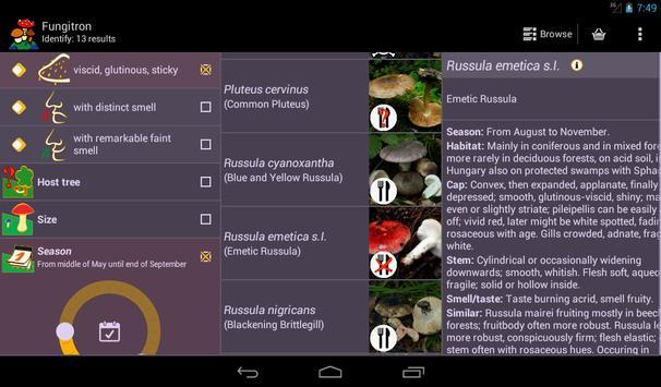 Fungitron - mushroom guide apk screenshot