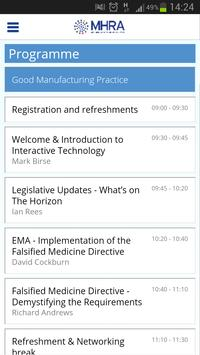 MHRA GMP/GDP Event App 2013 poster