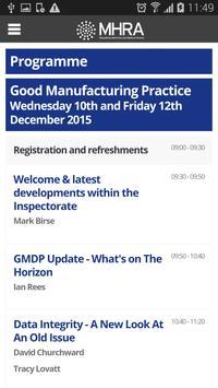MHRA GMDP Event App 2015 apk screenshot