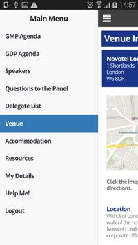 MHRA GMP/GDP Event App 2015 apk screenshot