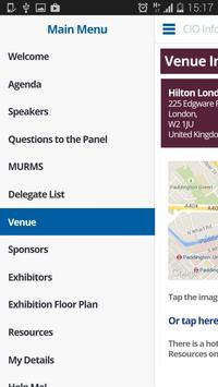 CIO Information Symposium App apk screenshot