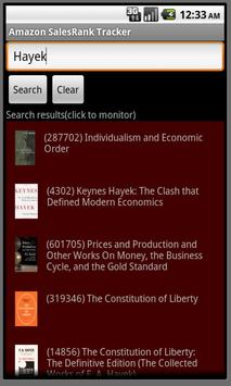 Amazon SalesRank Tracker apk screenshot