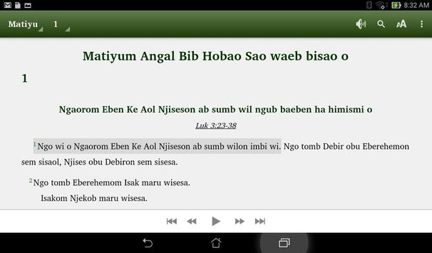 Angal Heneng Audio Bible poster