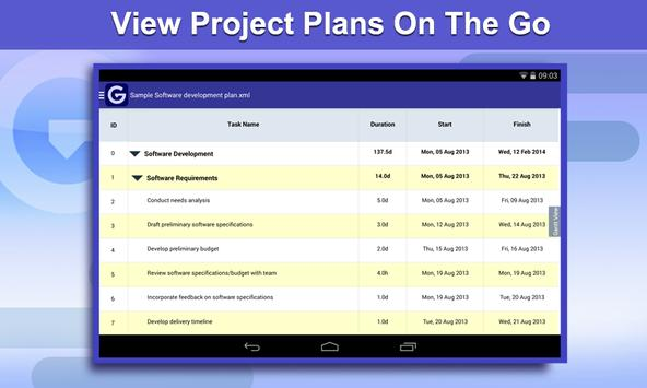 Gantt Pro -Project Plan Reader poster
