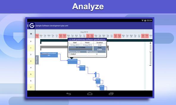 Gantt Pro -Project Plan Reader apk screenshot