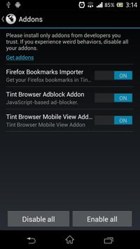 Tint Browser Mobile View addon poster