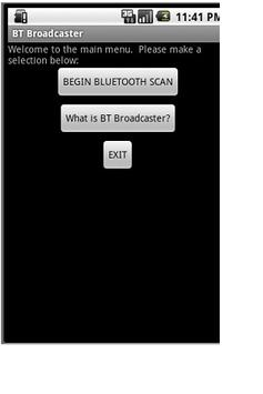 Bluetooth Broadcasting tool poster