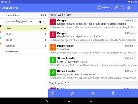 AquaMail for Parallels 2X MDM apk screenshot