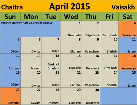 Koshur Calendar poster