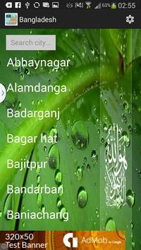 Bangladesh Prayer Timings poster
