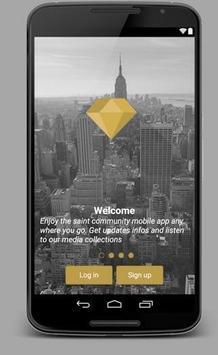 Saints Community Mobile App poster