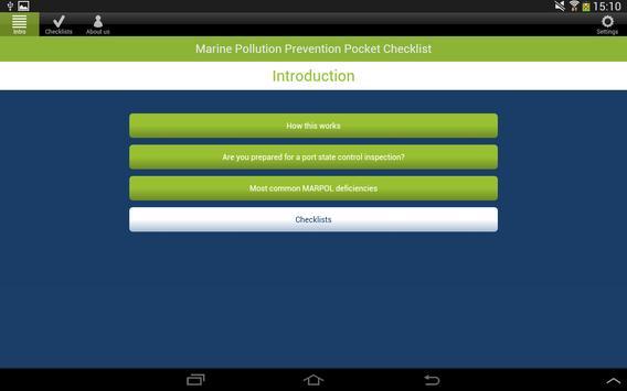 MARPOL Pocket Checklist apk screenshot