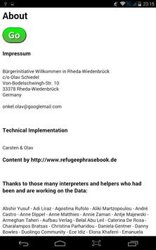 Refugee Phrasebook interactive apk screenshot