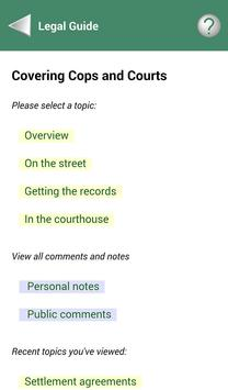 RCFP Cops and Courts apk screenshot