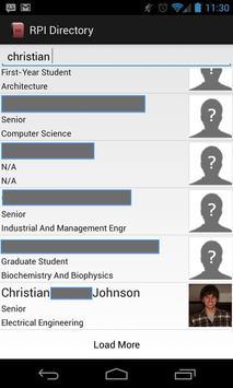 RPI Directory apk screenshot