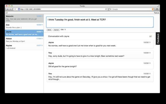 TextJs - SMS From Your Browser apk screenshot