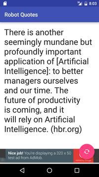 Robot Quotes apk screenshot