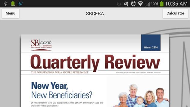 SBCERA Application apk screenshot