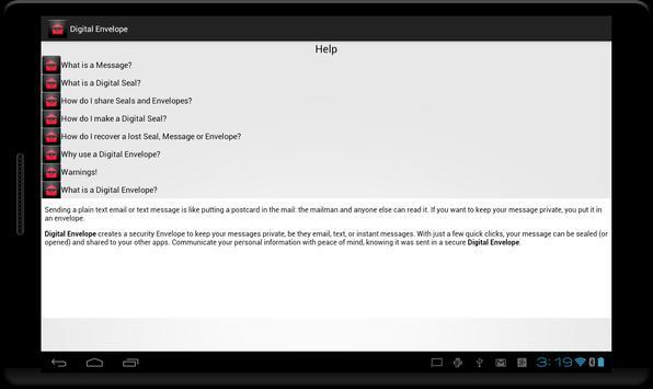 Digital Envelope apk screenshot