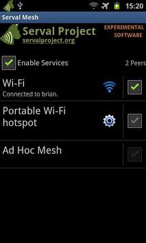 The Serval Mesh apk screenshot