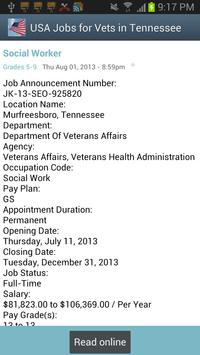 Tennessee USAJobs for Veterans apk screenshot