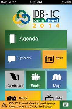 IDB-IIC Annual Meeting apk screenshot