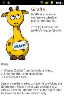 Giraffe apk screenshot