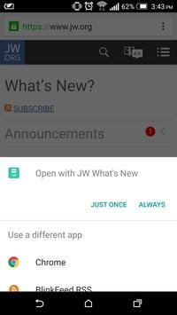 JW What's New apk screenshot
