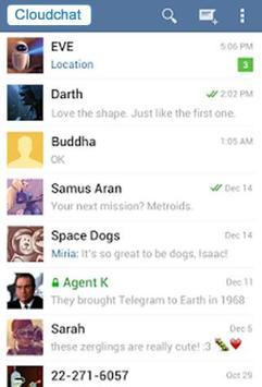 Cloudchat Messenger (Betà) poster