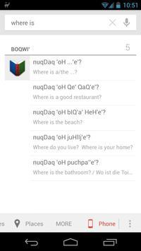 boQwI' (Klingon language) apk screenshot
