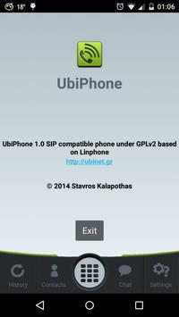 UbiPhone apk screenshot