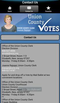Union County NJ Votes apk screenshot