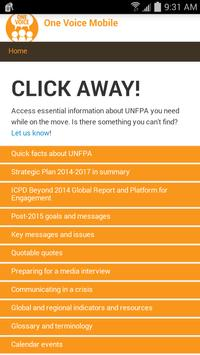 UNFPA One Voice apk screenshot