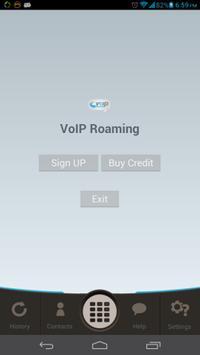 VOIP Roaming - Free SMS & Call apk screenshot
