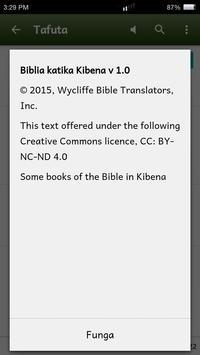Biblia katika Kibena apk screenshot