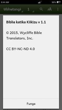 Biblia katika Kiikizu apk screenshot