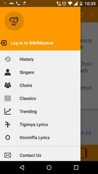 WikiMezmur Lyrics Amharic Song poster