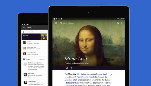 Wikipedia apk screenshot