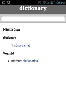English-Estonian miktionary apk screenshot