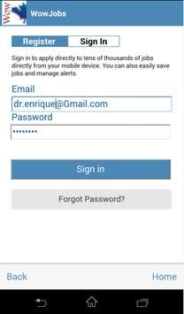 Wow Jobs apk screenshot