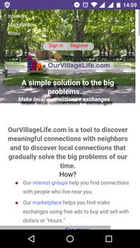 OurVillageLife poster
